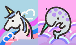 S2 Splatfest Unicorn vs Narwhal