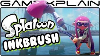 Splatoon - Inkbrush DLC Weapon Tour!