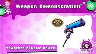 Tempered Dynamo Roller ~ Weapon Demonstration (Splatoon)