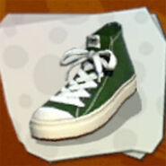 Shoes Dark Green Hi-Tops