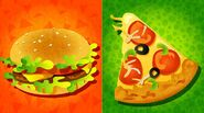 North American Splatfest Burgers vs Pizza