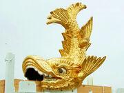 Nagoya Castle Golden Shachi-Hoko Statue01