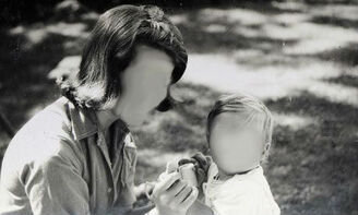 Faceless mother with child