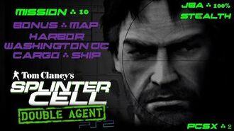 Splinter Cell Double Agent PS2 PCSX2 HD JBA – Миссия 10 Борт – Гавань. Вашингтон. Грузовое судно