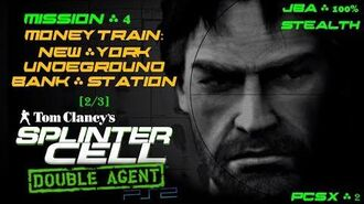 Splinter Cell Double Agent PS2 PCSX2 HD JBA – Миссия 4 Поезд. Метро – Станция Банк (2 3)