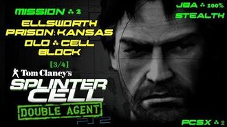 Splinter Cell Double Agent PS2 PCSX2 HD JBA – Миссия 2 Тюрьма Элсворт – Ст. тюремный блок (3 4)