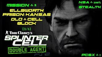 Splinter Cell Double Agent PS2 PCSX2 HD NSA – Миссия 2 Тюрьма Элсворт – Ст. тюремный блок (3 4)