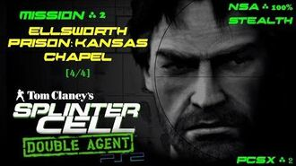 Splinter Cell Double Agent PS2 PCSX2 HD NSA – Миссия 2 Тюрьма Элсворт – Часовня (4 4)