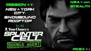 Splinter Cell Double Agent PS2 PCSX2 HD NSA – Миссия 9 Нью-Йорк – Заснеженная крыша (1 3)