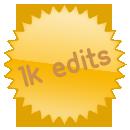 1000 edits