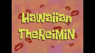 SpongeBob Music Hawaiian Theremin