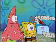 Patrick & Spongebob In Bandages, 1 Jellyfish, & Squidward's Arms in bandages
