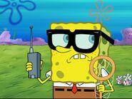 SpongeBob Wearing Jellyfishing Gear