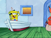 Spongebob Acts Like A Soldier