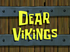 Dear Vikings title card