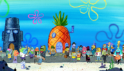 Bikini Bottom Mysteries Search menu background