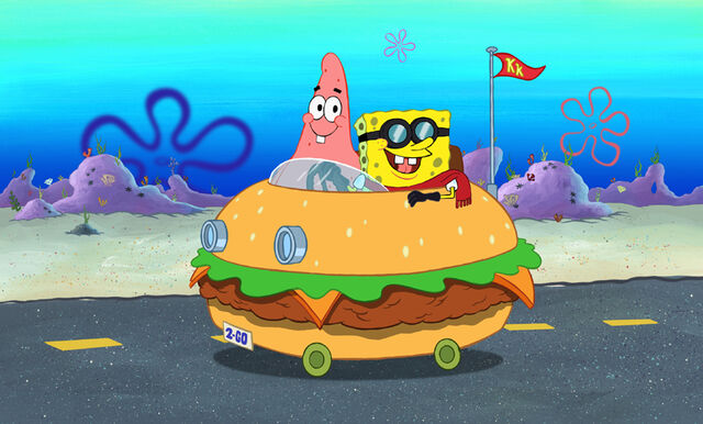 File:Patrick & Spongebob In The Patty Wagon.jpg