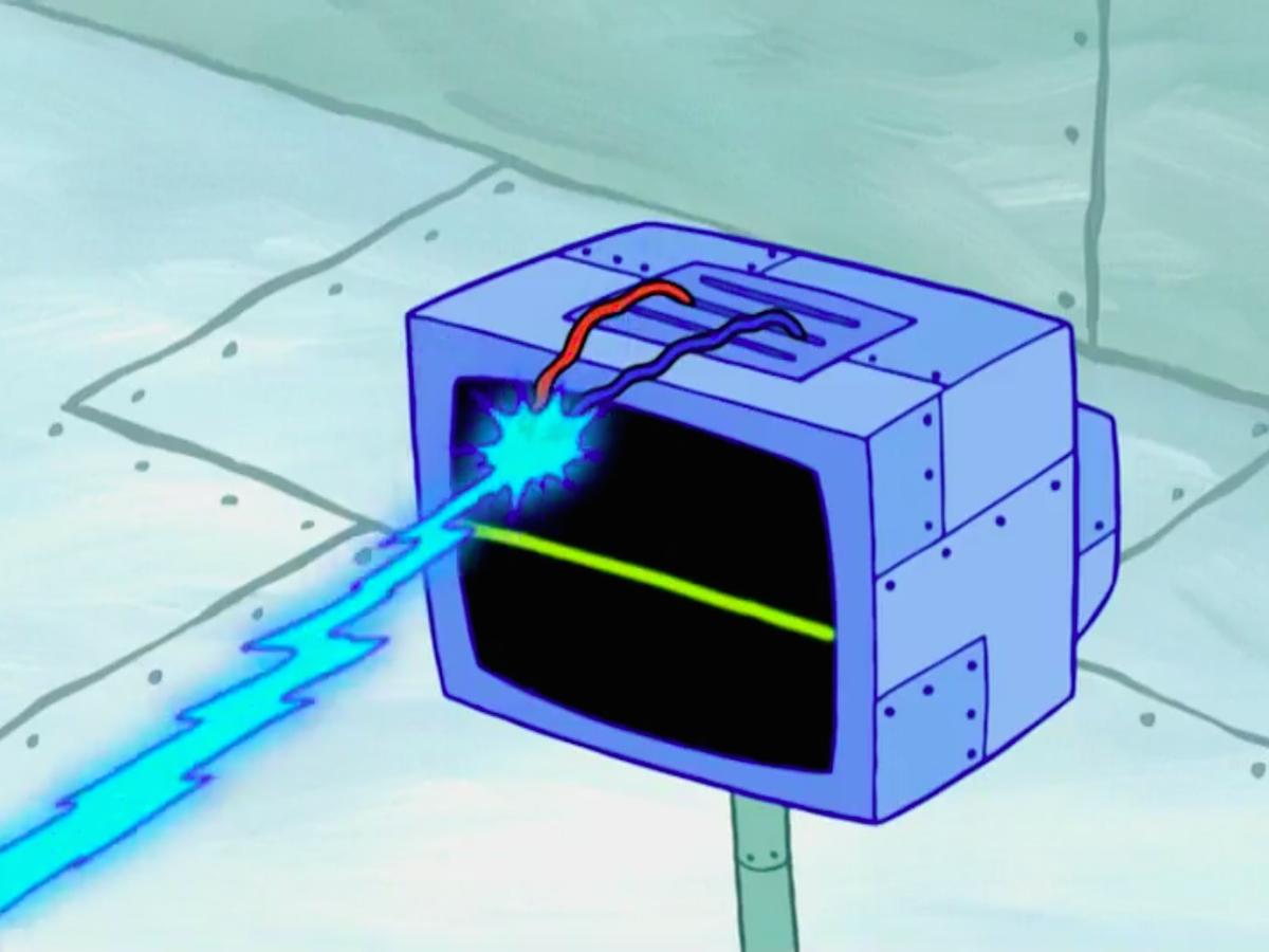 Image - SpongeBob SquarePants Karen the Computer Wire Laser.png ...