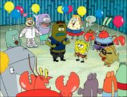 Larry in SpongeBob Meets the Strangler-5