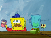 SpongeBob puts away Strongman Powder