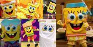 Spongebob costume collage