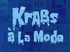 Krabs à la Mode title card