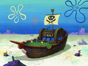 Mr. Krabs Fake Pirate Ship