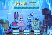 SpongeBob's Truth or Square (online game) - You lose!
