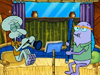 Howard and Squidward Playing Clarinets