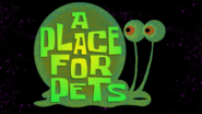 A Place for Pets (Title Card)