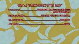Plankton Gets the Boot credits
