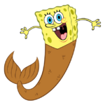 SpongeBob with mermaid tail stock art