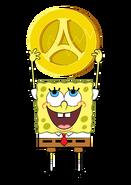 SpongeBob with amulet Atlantis stock art