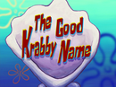 The Good Krabby Name title card