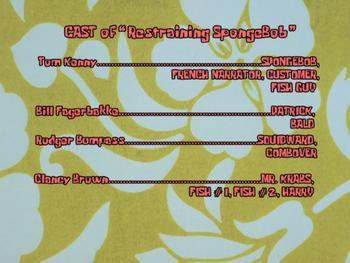 Restraining SpongeBob Credits