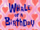 Squidward Tentacles/gallery/Whale of a Birthday