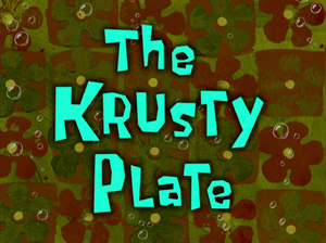 The Krusty Plate title card