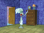 Squidward Wearing Towels