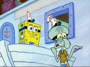 Squidward Almost Killed