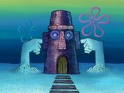 Squidward's House With Sand Arms