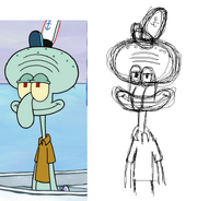 Qwertyxp2000 sketch Squidward