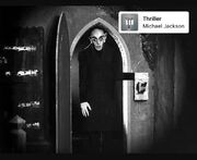 Nosferatu listens to thriller