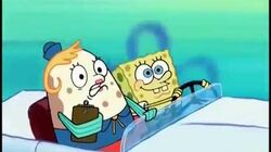 Spongebob runs over narrator
