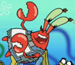 Mr. Krabs Wearing an Apron