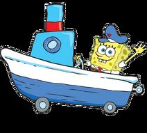 SpongeBob with yacht stock art