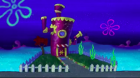 Mrs. Puff's House at night