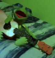 Kermit vibing