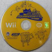 SpongeBob's Altantis SquarePantis Wii Disc