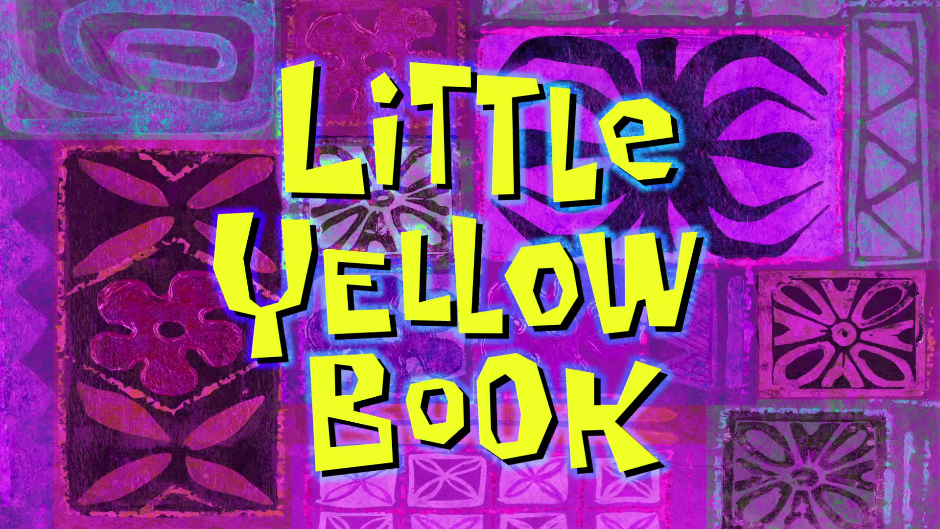 little yellow book encyclopedia spongebobia fandom powered by