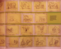 Not Just Cartoons, Nicktoons! storyboard page